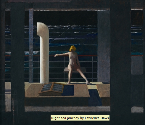 Lawrence Daws, Night sea journey, 1994, oil on canvas, 137.0 x 158.0 cm