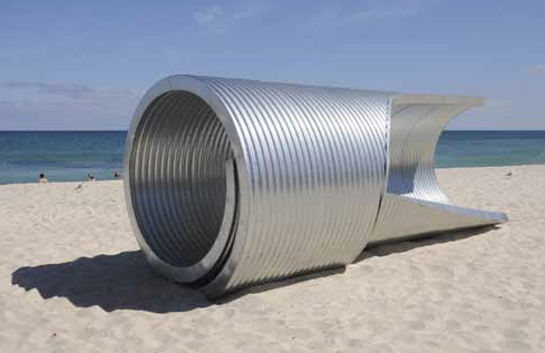 Jean-Marc Rivalland, breaking wave, 2010, Sculpture by the Sea, Cottesloe