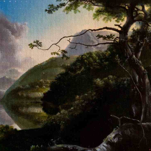Sam Leach, Proposal for Landscape Cosmos, oil on canvas, 2010