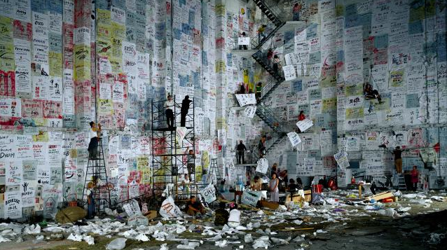 Wang Qingsong, Competition, 2004, c-type print, 170 x 300 cm. Courtesy the artist