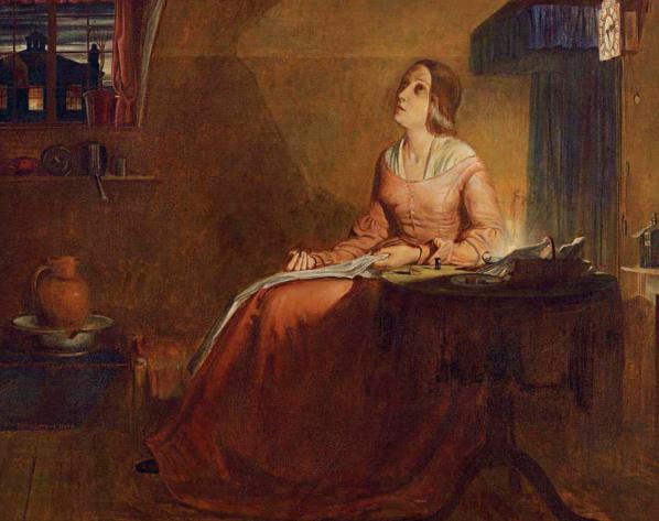 Richard Redgrave, The sempstress, 1846 oil on canvas, 63.9 x 76.9cm