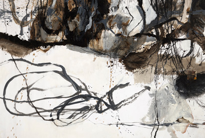 Sophie Cape, Sinking, mixed media, on paper, 185 x 270cm