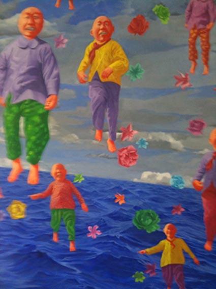 Floating figures by Fang Lijun