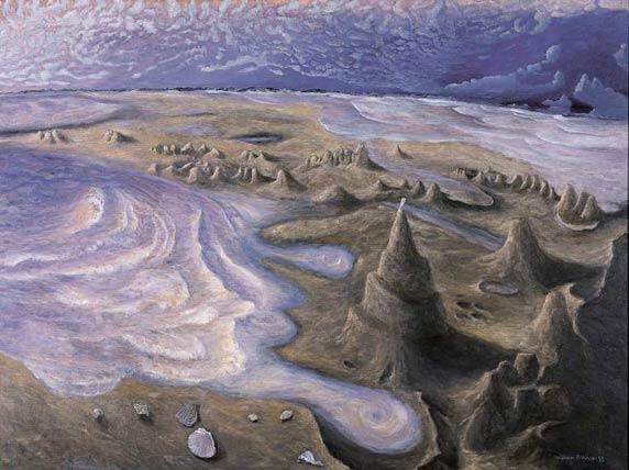 William Robinson, The sand ziggurat, Kingscliff (1995) 137.5 x 183.0 cm oil on canvas