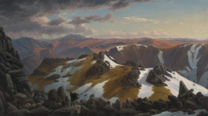 Eugene von Guérard, North-east view from the northern top of Mount Kosciusko 1863, National Gallery of Australia, Canberra