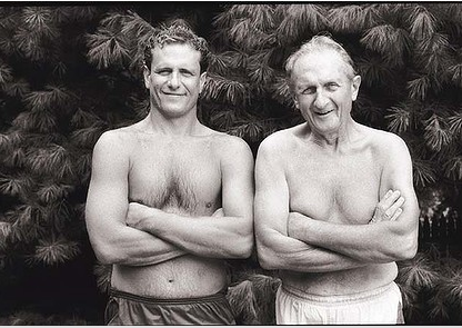 Annie Leibovitz's family snaps: My brother Philip and my father, Silver Spring, Maryland, 1988