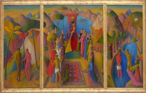 Justin O'Brien, The Virgin-Enthroned, 1950-51, oil on canvas