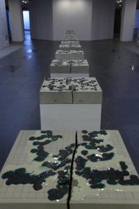 Xiao Yu, Chessboards, ceramic, 2011