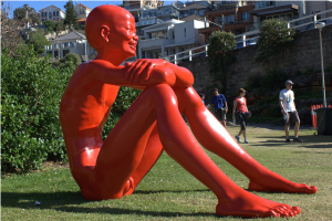 Chen Wenling, Childhood horizon, Sculpture By The Sea, Bondi 2011