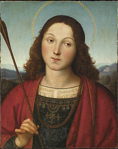 RAPHAEL, Saint Sebastian, c.1501-02