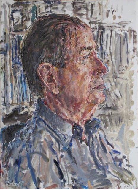 Depiction of Geoffrey Lehmann by Tom Carment