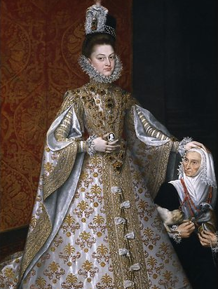Alonso Sánchez Coello, The infanta Isabella Clara Eugenia and Magdalena Ruiz (detail) c.1585–88, oil on canvas, 207 X 129 cm