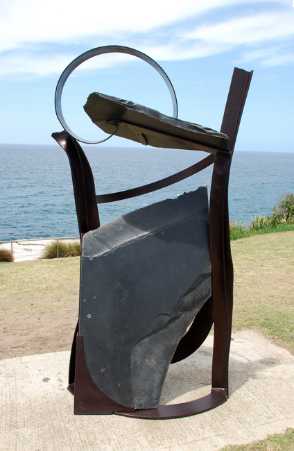 Jan King, Abyssinia, slate, steel, Sculpture by the Sea, Bondi, 2009