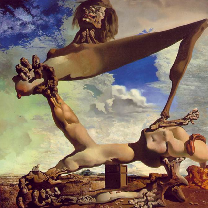 Salvador Dalí, Soft Construction with Boiled Beans: Premonition of Civil War, 1936, oil on canvas, 100×99cm