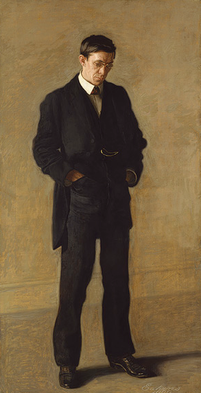Thomas Eakins, The Thinker: Portrait of Louis N. Kenton, 1900, Oil on canvas 82 x 42 in.