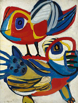 Karel Appel, Ontmoeting (Encounter), 1951, oil on canvas, 130 x 97.5 cm.