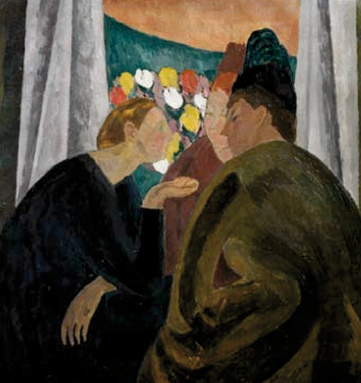 Vanessa Bell, Conversation, 1913-1916, Oil on canvas