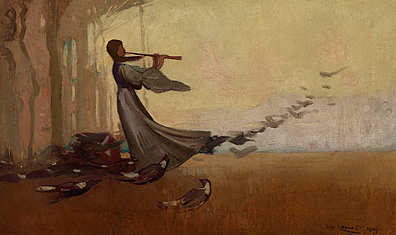 Sydney Long, The West Wind, 1909, oil on canvas, 30.5 (h) x 51.0 (w) cm