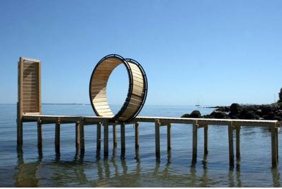 Lene Desmentik, Rollercoaster by Lene Desmentik, Sculpture by the Sea, Denmark, 2009