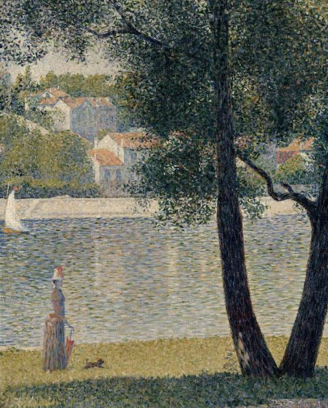 Neo Impressionism Artists: Georges Seurat, The Seine At Courbevoie, 1885, Oil On