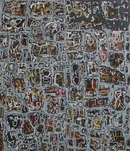 Roy Jackson, To Moment Day Today, 2010, acrylic and oil stick on board, 214 x 183cm