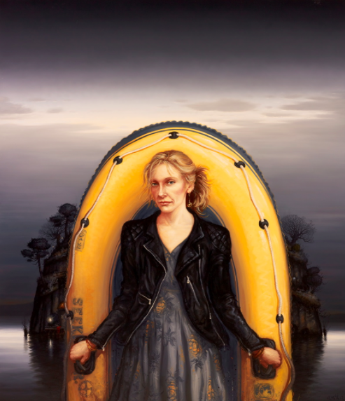 Alexander McKenzie, Toni Collette, oil on linen, 244 x 197 cm