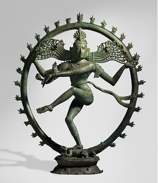 Shiva as Lord of the Dance [Nataraja], 11th-12th century, Tamil Nadu, India, Sculpture, bronze Technique: lost-wax casting, 128.5 h x 106.0 w x 40.0 d cm