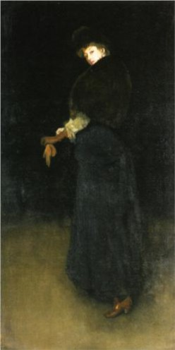James Abbott McNeill Whistler, 1883, Arrangement in Black (The Lady in the Yellow Buskin)