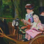 Mary Cassatt, 1881, A Woman and a Girl Driving