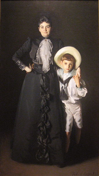 John Singer Sargent, 1890, Portrait of Mrs. Edward L. Davis and Her Son, Livingston Davis