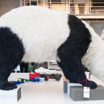 Animals from the work Heritage being measured for installation in Cai Guo-Qiang: Falling Back to Earth