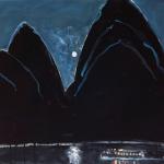 Peter Kingston, Full Moon, High Tide (Big Black Opera House), 2008, oil on canvas.