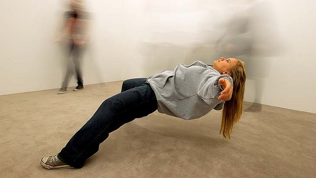 Installation piece: Xu Zhen's In Just a Blink of an Eye, in the 27th Kaldor Art Project 13 Rooms. Photo: Janie Barrett