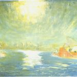 Lloyd Rees, September Sun, Sydney Cove, 1980, oil on canvas, 136 x 182 cm. Janet Holmes à Court Collection.