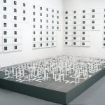 All Variations of Incomplete Open Cubes 1974 Wood sculptures with white paint (122 pieces) Each piece: 20.3 cm square 8