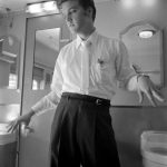 Washroom, no towels, July 3, 1956 by Alfred Wertheimer