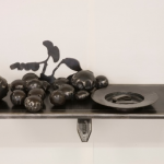 Paul Hopmeier, Apples & Biscuits, 2010, waxed steel  40 x 79 x 27 cm, courtesy of the artist and Defiance Gallery, Sydney