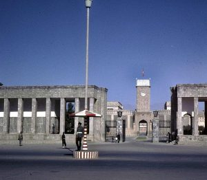The Presidential Palace, Kabul, under which the treasures were hidden