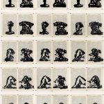 William Kentridge, 'Reclining Nude/Telephone' © William Kentridge 2014  Indian Ink on dictionary pages , 161 x 121 cm