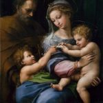 Raphael, 'Holy Family with Saint John or Madonna of the rose' c.1516