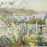 Hilda Rix Nicholas, 'View from the garden' (c.1920)