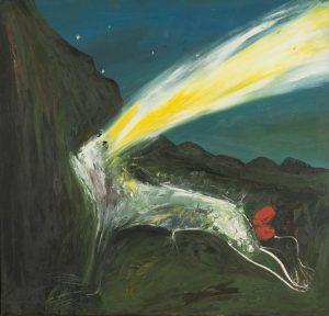 Arthur Boyd, 'Nebuchadnezzar struck by lightning', (1968-69)