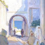 Hilda Rix Nicholas, 'Through the arch to the sea' (1914)