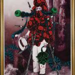 Wedhar RIYADI, Noise from the fertile land (Keributan dari negara subur) no.1, 2011, oil on canvas, 250 x 180 cm. Photograph by Natasha Harth, QAGOMA