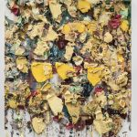 Zhu Jinshi, Yellow Yulan Magnolia Spread on the Floor (2013), Oil on canvas, 180 x 160 cm