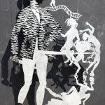 Entang Wiharso, 'Licker',  aluminium, car paint, 240 x 120 cm, 2009