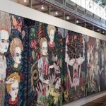 Del Kathryn Barton's five-panel work at the Roslyn Oxley9 Gallery's space. Photograph: Melbourne Art Fair