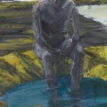 Euan Macleod 'Seated Figure, Feet In Harbour'