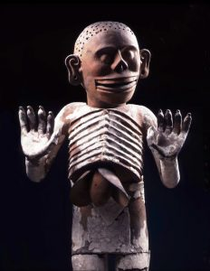 Sculpture of Mictlantecuhtli – The Aztec god of the underworld and death