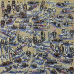 LUCY CULLITON, Spark plugs (2008), oil on board, 80 x 80 cm. Private Collection. Image courtesy of Mosman Art Gallery